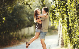 Summer of our love. Teen couple together at street. Summer of our love Royalty Free Stock Photography