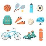 Summer outdoor activities sport equipment Stock Image