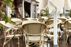 Summer outdoor cafe in town Stock Photography