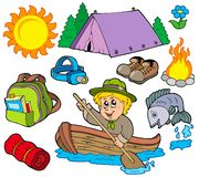 Summer outdoor collection. Illustration Stock Images