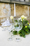 Summer outdoor party table Royalty Free Stock Photo