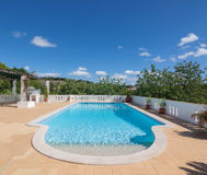 Summer outdoor pool in the garden. Stock Images
