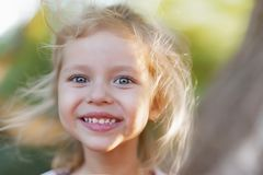 Free Summer Outdoor Portrait Of Beautiful Happy Child Royalty Free Stock Images - 144413009