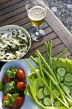 Summer outdoor salad Stock Image