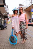 Girls summer outfit street style fashion. Stock Photo