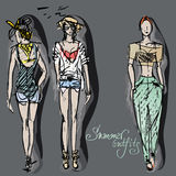 Summer outfits Royalty Free Stock Photography