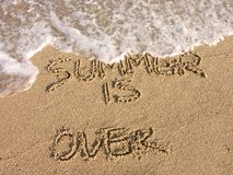 Summer is over Royalty Free Stock Photos