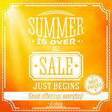 Summer is over but sale just begin banner. For Royalty Free Stock Photos