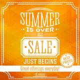 Summer is over but sale just begin banner. For Royalty Free Stock Photography