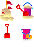 Summer pack 2. Summer pack including , bucket and spade , pick them up along with other packs Stock Photo