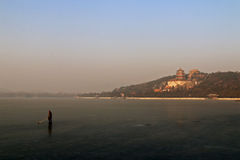 Summer palace. The Summer Palace  頤和園 ,beijing china, with  freezing Kunming Lake Stock Image
