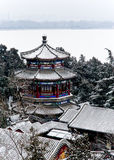 Summer Palace. After the snow scenery Stock Photography