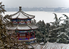 Summer Palace. After the snow scenery Royalty Free Stock Images