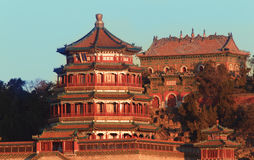 Summer Palace China. The summer palace in autumn Stock Photography