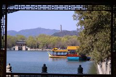 Summer palace. This is Summer Palace, the lake is named KunMingHu Royalty Free Stock Photo