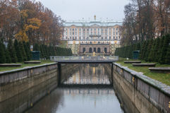 The Summer Palace in autumn. Peterhof. Russia Royalty Free Stock Image