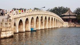 Summer Palace with beautiful bridge, Beijing Stock Image