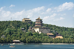 Summer Palace in Beijing, China. The Summer Palace served as a summer resort for Empress Dowager Cixi of the Qing Dynasty. Its landscape includes Longevity Hill Stock Image