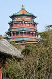Summer Palace at Beijing, China. The Octagon Tower on the Longevity Hill at the Summer Palace, Beijing, China Stock Photos