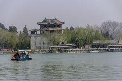 The summer palace beijing. BEIJING, CHINA-24th MARCH 2014:-The Summer palace was once the home for the Dragon Lady,Empress of China Royalty Free Stock Photography