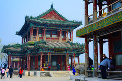 Summer Palace,Beijing,China. Tourists visit the the Summer Palace Stock Photography
