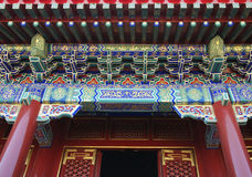 Summer Palace in Beijing. Detail of a colorful gate at a temple in the Summer Palace, Beijing Royalty Free Stock Images