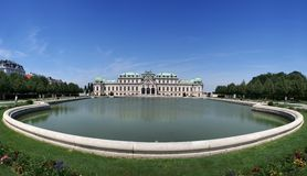 Summer palace Belvedere Royalty Free Stock Images