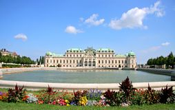 Summer palace Belvedere in Vienna Royalty Free Stock Image