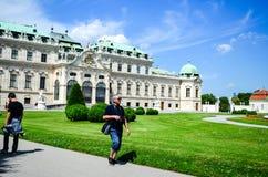 Summer palace Belvedere in Vienna, Austria Stock Photo