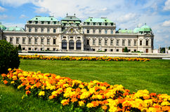 Summer palace Belvedere in Vienna Royalty Free Stock Photo