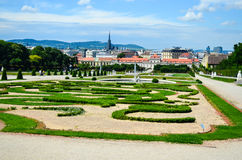 Summer palace Belvedere in Vienna Stock Photo