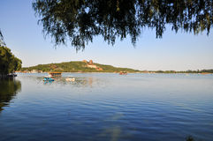 The Summer Palace with blue sky Stock Images
