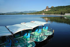 Summer palace with boat Stock Images