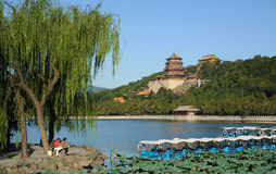 Summer palace with boat Royalty Free Stock Images