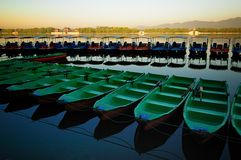Summer Palace boat and lake. The Summer Palace is  the most famous  emperor garden in china Stock Photos