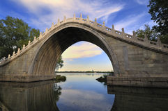Summer Palace Bridge,Beijing Stock Photo