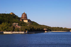 Summer palace of china Royalty Free Stock Photo