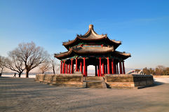 Summer Palace Chineses Pavilion. The Summer Palace is  the most famous  emperor garden in china Royalty Free Stock Photo