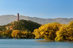 Summer Palace In Autumn Royalty Free Stock Images