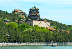 Summer Palace on a lake, Beijing Royalty Free Stock Photos