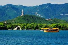 The Summer Palace lake and bridge Royalty Free Stock Photos