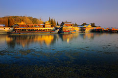 The Summer Palace lake and bridge. The Summer Palace is  the most famous  emperor garden in china,it was created 400 years ago Royalty Free Stock Photo