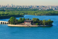 The Summer Palace lake,Beijing cityscape Royalty Free Stock Image