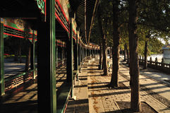 Summer Palace- Long gallery. The Summer Palace is  the most famous  emperor garden in china Royalty Free Stock Photo