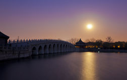 Summer palace night beijing china Royalty Free Stock Photo