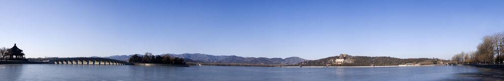 The Summer Palace panorama stock photography
