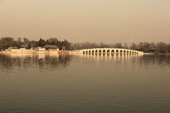 Summer palace park in dusk Royalty Free Stock Photo
