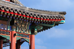 Summer palace roof corner in Beijing city Royalty Free Stock Photo