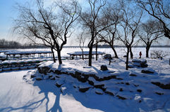 The Summer Palace snow royalty free stock photos