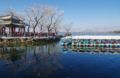 Summer palace in snow Stock Photography